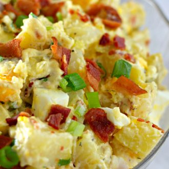 Dill Pickle Potato Salad with Bacon