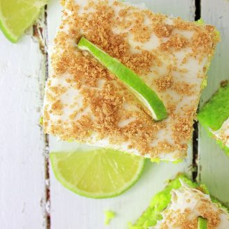 slice of key lime cake