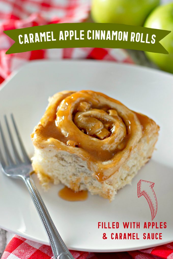 Caramel Apple Cinnamon Rolls on Pinterest