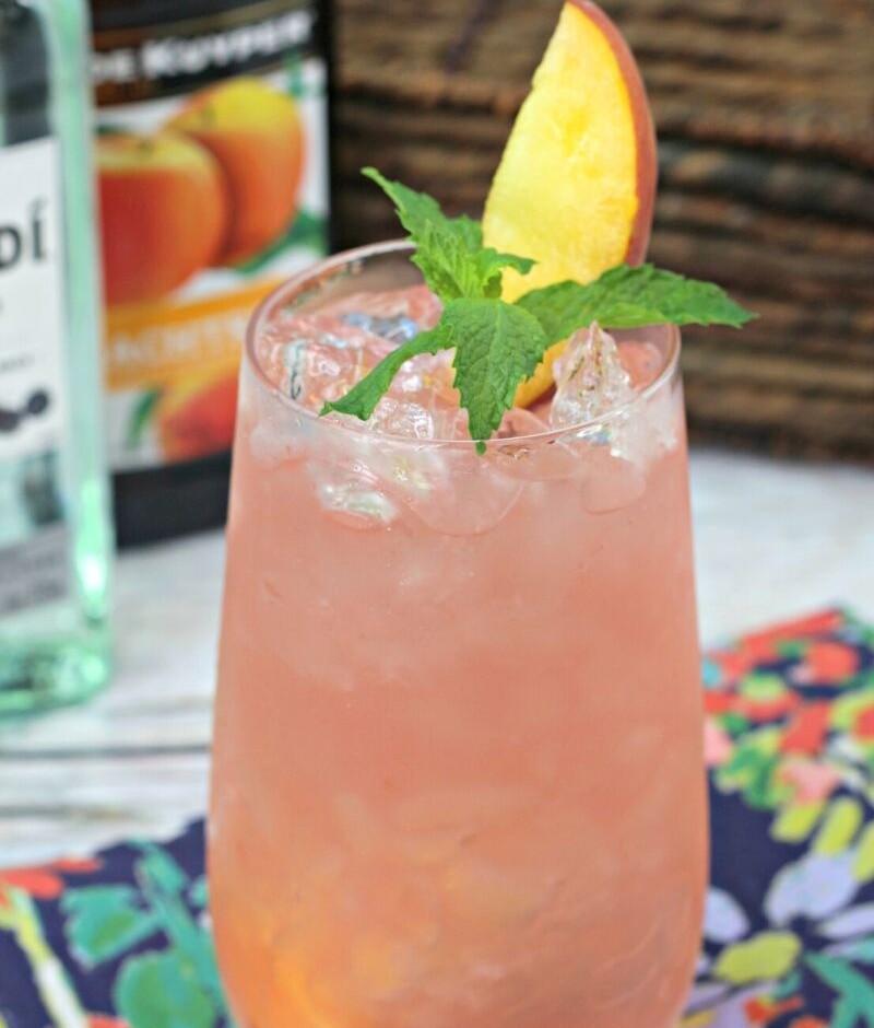 cuban peach cocktail