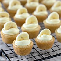 Easy Banana Pudding Cookie Cups