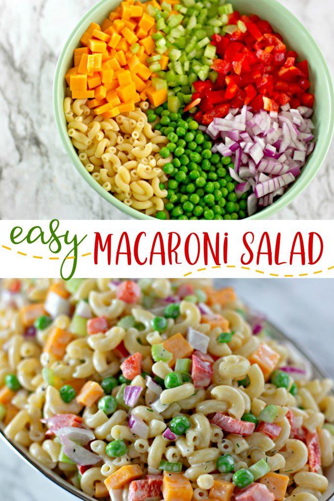 Easy Macaroni Salad Recipe on Pinterest