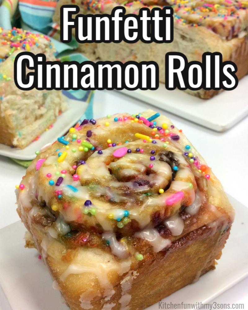 Funfetti Cake Mix Cinnamon Rolls Recipe