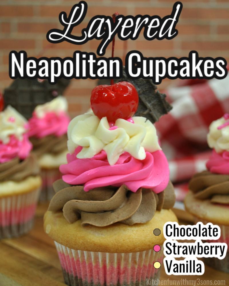 neapokitan cupcakes for pinterest