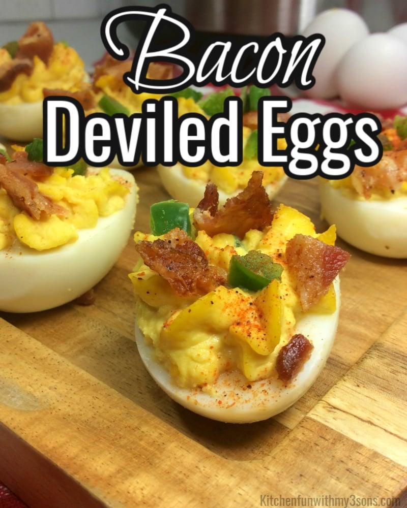 bacon deviled eggs for pinterest