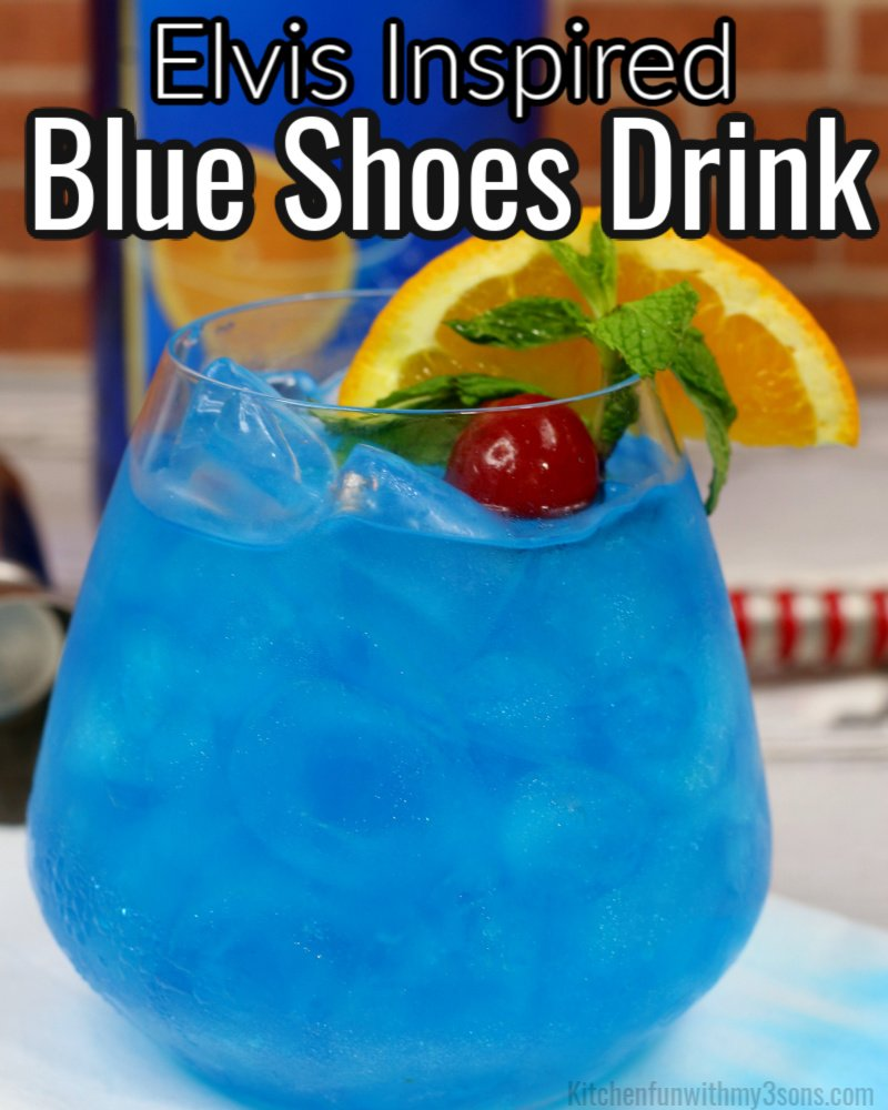 blue shoe drink