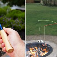 Campfire Fishing Pole for Roasting Marshmallows