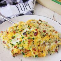 cauliflower bacon cheese casserole