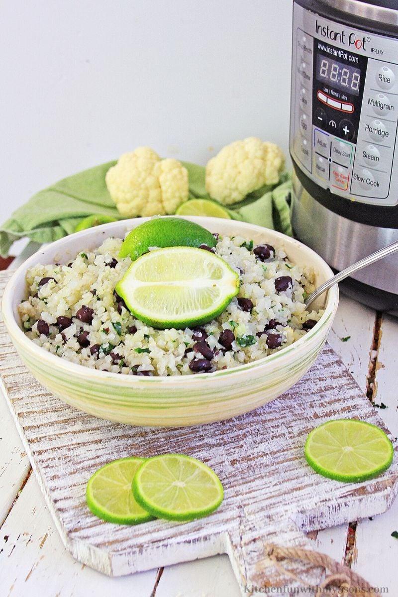 cauliflower lime cauliflower rice