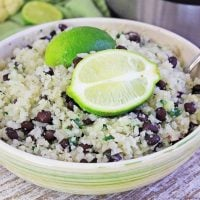 cilantro cauliflower rice in a bowl