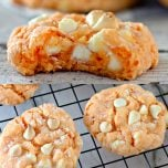 Creamsicle Orange Cake Mix Cookies