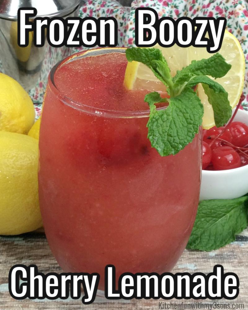 frozen boozy cherry lemonade