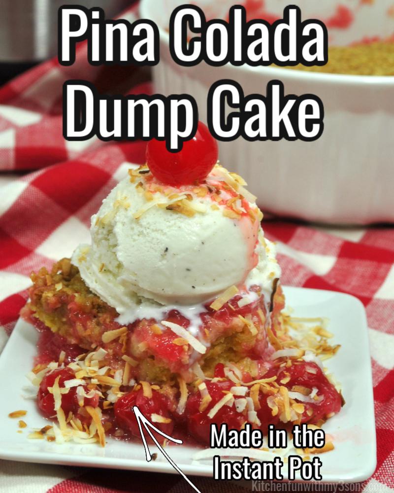 pina colada dump cake