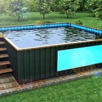 Swimming Pools Made From Shipping Containers