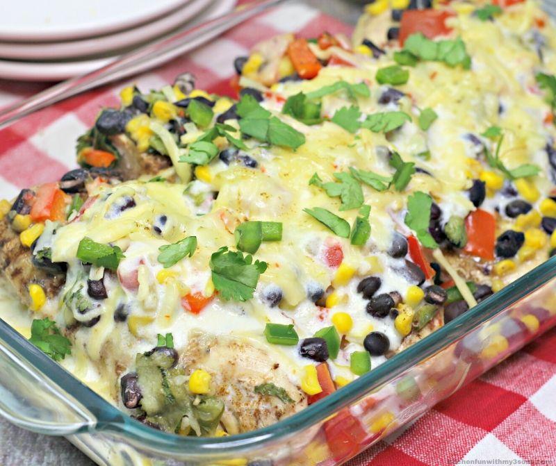 Southwest baked chicken recipe