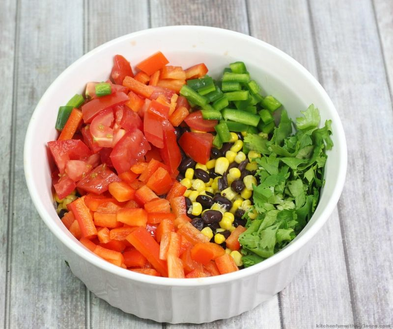 vegetables in a white bowl
