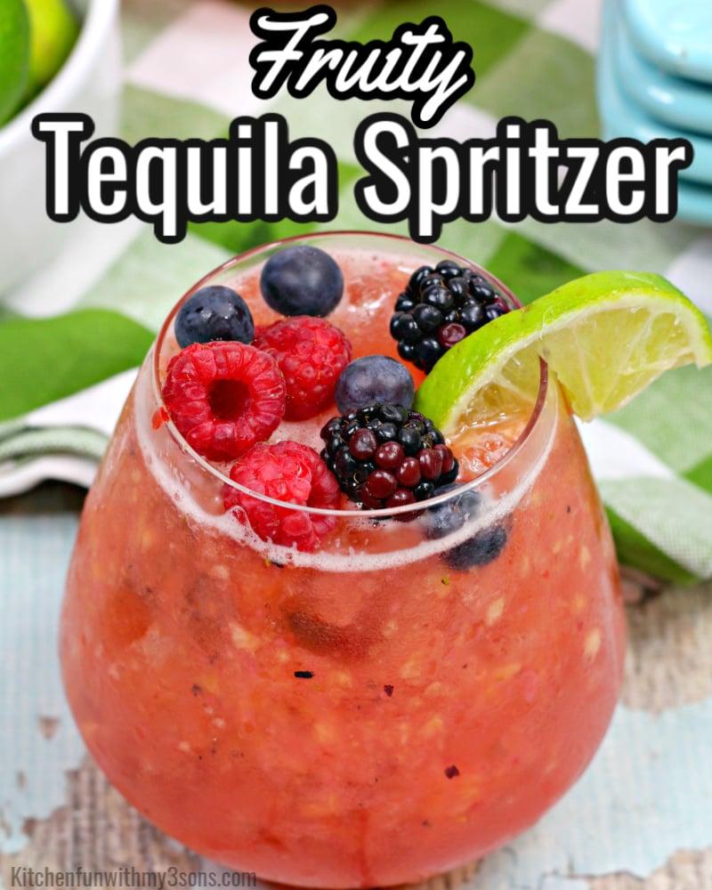 Fruity Tequila Spritzer