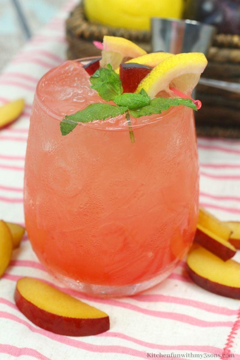 Plum Citrus Whiskey Smash