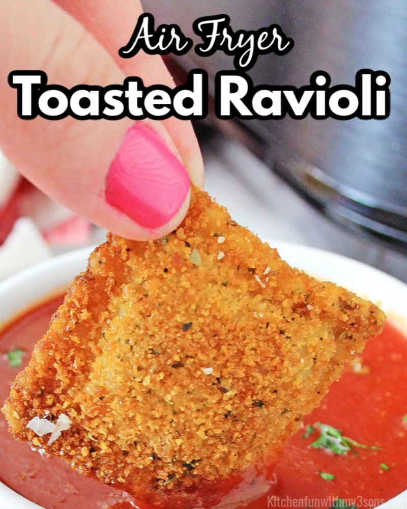 air fryer toasted ravioli recipe