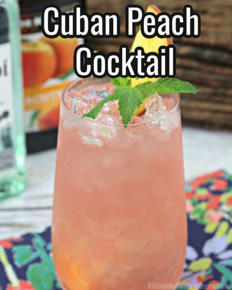 cuban peach cocktail