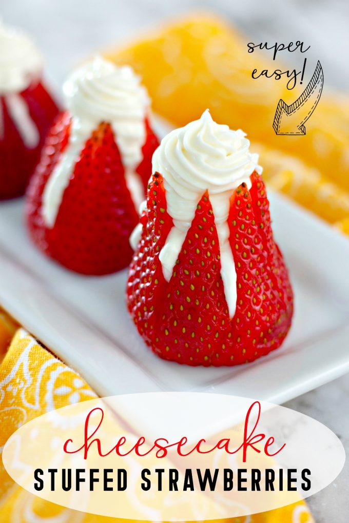 5 Ingredient Cheesecake Stuffed Strawberries on Pinterest