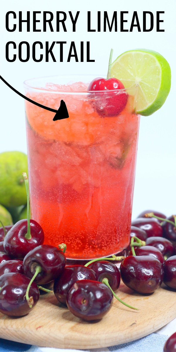 Cherry Limeade Cocktail is a fun adult twist on a classic summer drink. It's a delicious cocktail with refreshing cherry and lemon lime flavors that are perfect on a hot day.