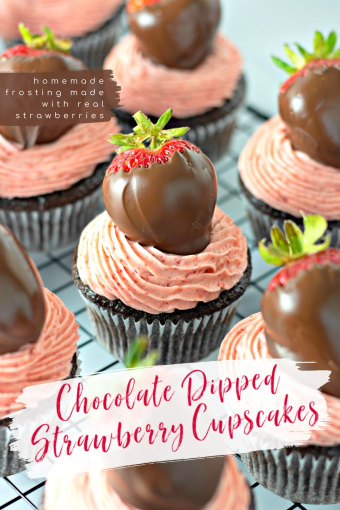 Chocolate Covered Strawberry Cupcakes on Pinterest