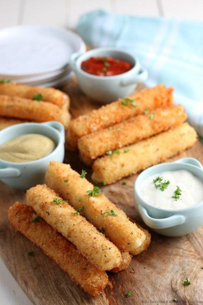 baked or fried mozzarella sticks