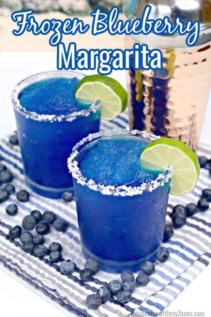 blueberry margaritas for pinterest