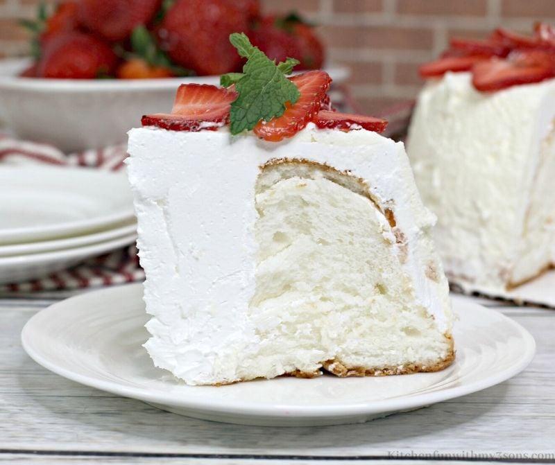 slice of angel food cake