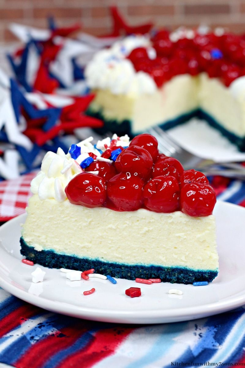 Instant Pot Patriotic Cheesecake