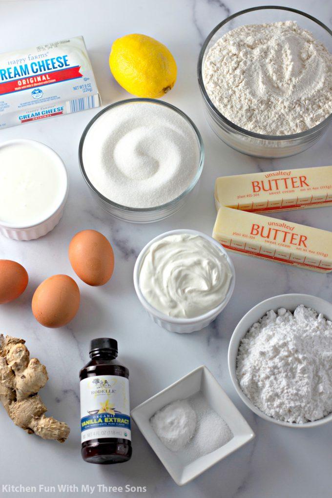 ingredients to make Italian Lemon Cake Recipe