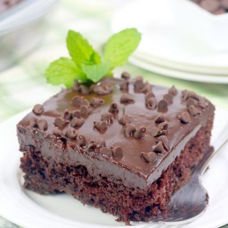 Triple Chocolate Mint Sheet Cake