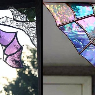 Halloween Stained Glass Art