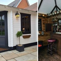 Couple Builds Tiny Backyard Bar During Lockdown