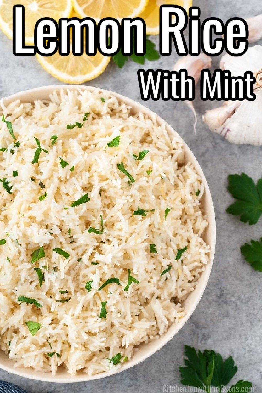 lemon rice with mint