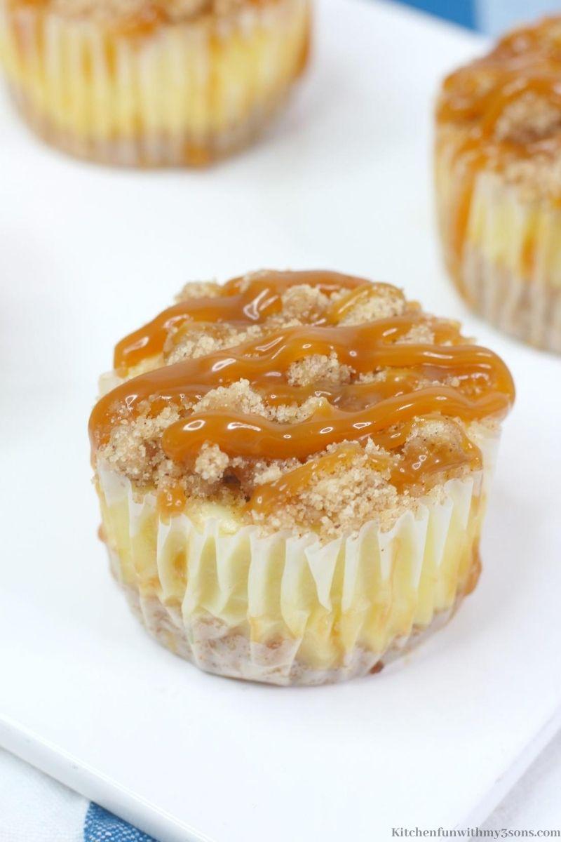 Copycat Mini Salted Caramel Cheesecakes