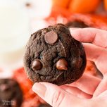 Double Chocolate Pumpkin Cookies are packed full of fall flavor. These soft and fluffy cookies that melt in your mouth take just five simple ingredients and are ready to eat in under 30 minutes.