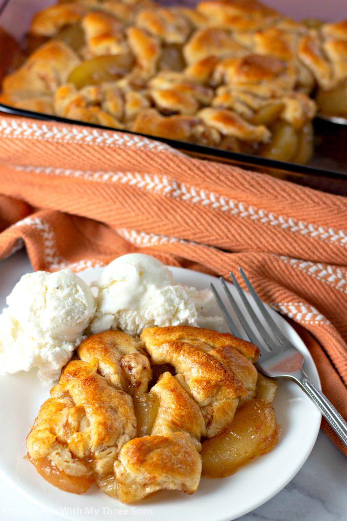 Easy Apple Dumpling Casserole