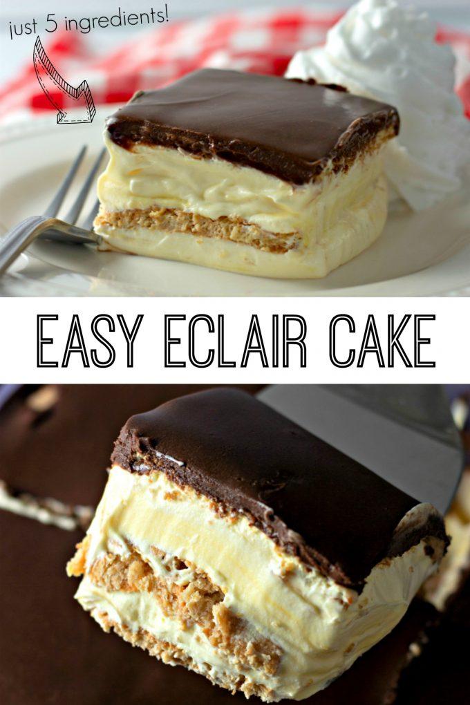 No Bake Eclair Cake on Pinterest