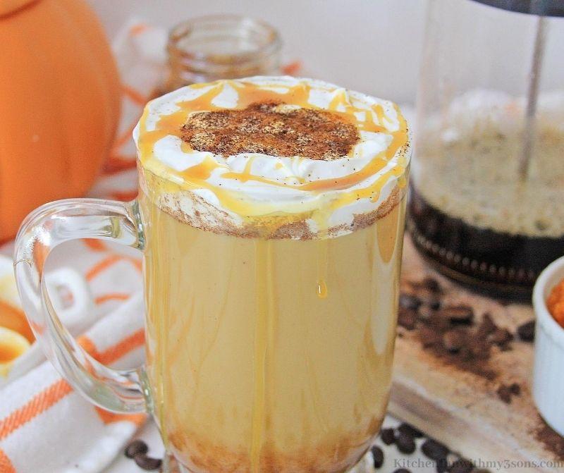 Homemade Caramel Pumpkin Latte