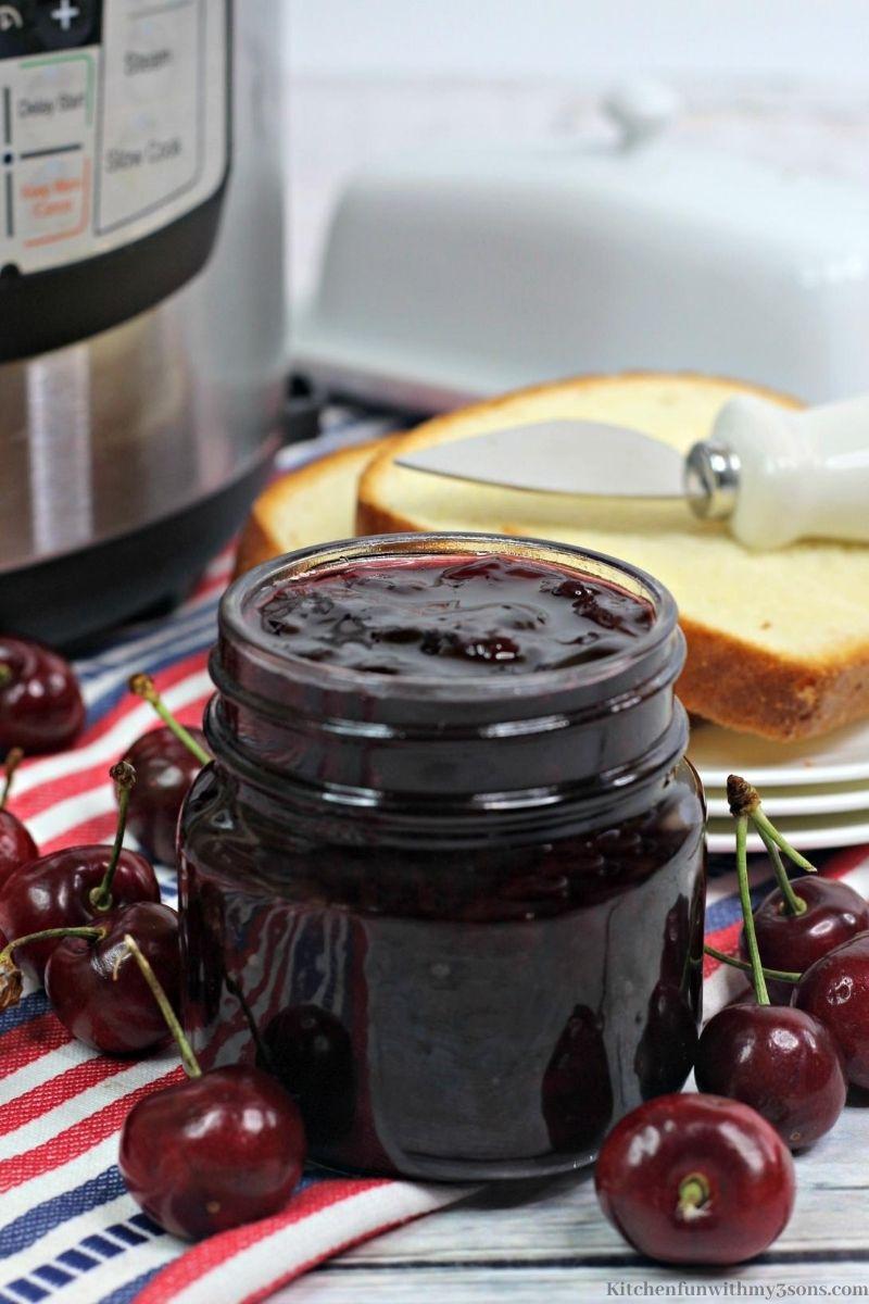 Instant Pot Cherry Jam Recipe
