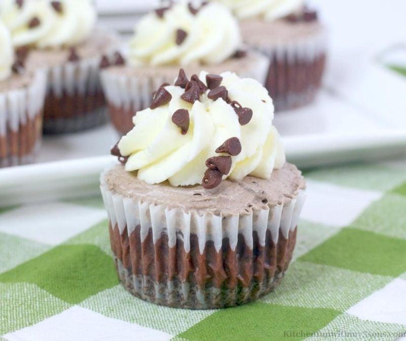 Mini Chocolate Mousse Cheesecake
