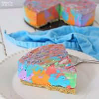 Tie Dye Cheesecake is the most colorful cheesecake you will ever see. It's made with five different bold colors and is full of delicious flavor.