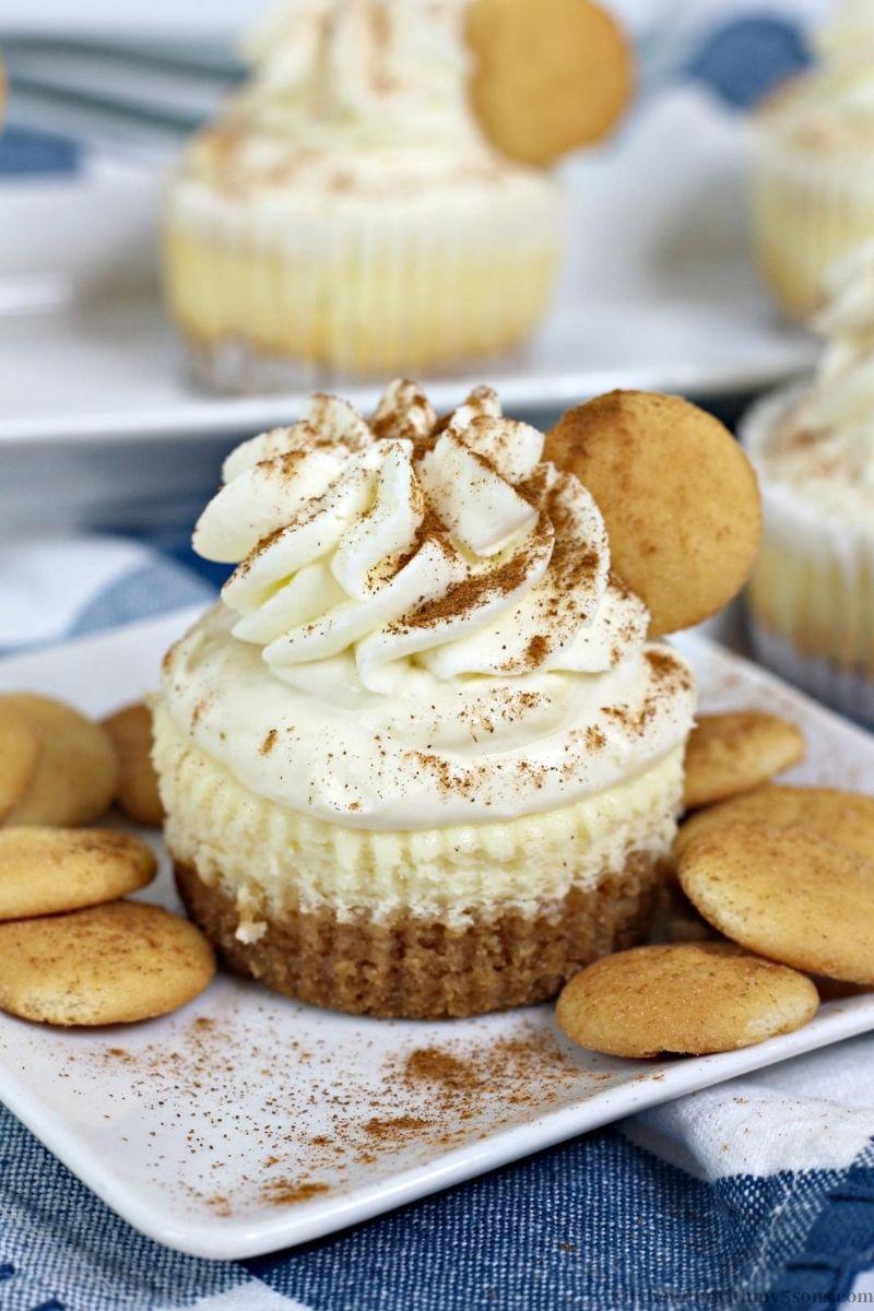 Mini Banana Pudding Cheesecake