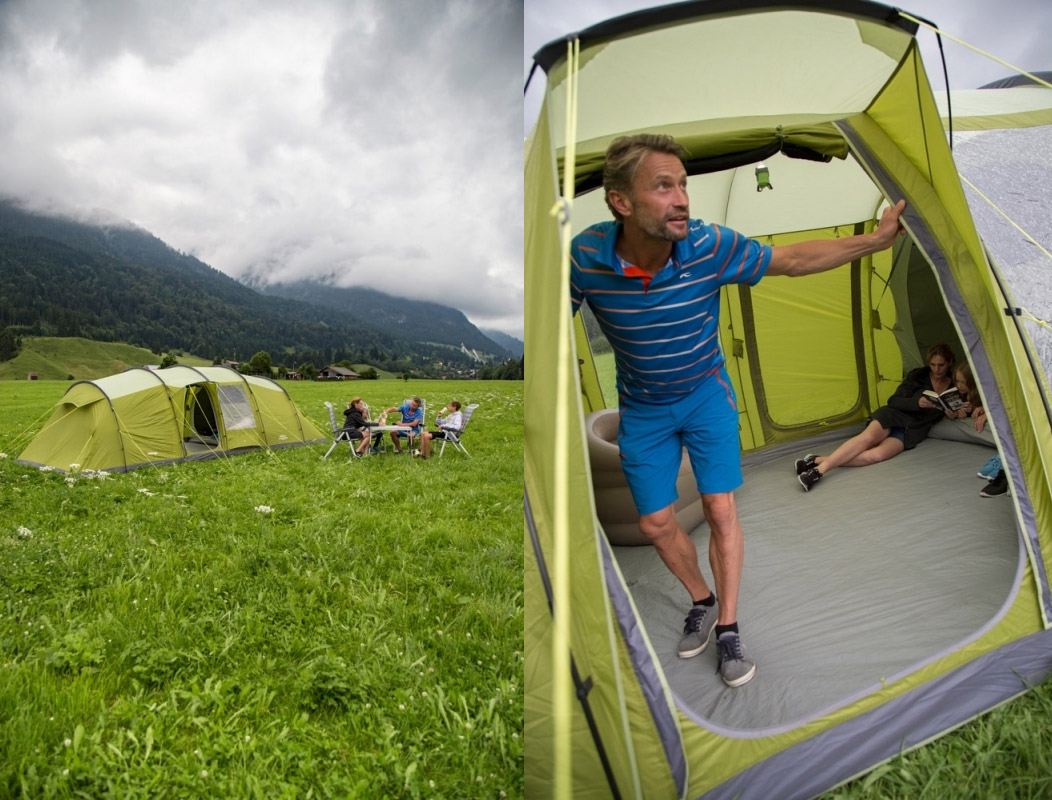 tent with 8 rooms