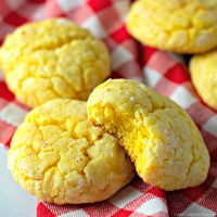 Lemon Cake Mix Cookies with Cream Cheese