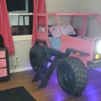 Pink Jeep Bed