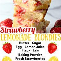 Strawberry Lemon Blondies