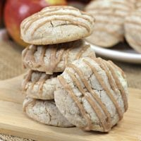 Apple Spice Cookies with Spiced Glaze